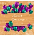 Color Glossy Balloons Card vector image