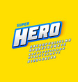 comics style font super hero upper and lowercase vector image vector image