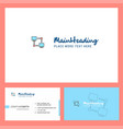 computer networks logo design with tagline front vector image vector image