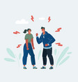 couple get angry at each other people in conflict vector image vector image
