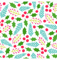 cute floral christmas background vector image vector image