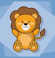 cute lion baby animal cartoon image vector image