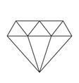diamond simple icon vector image vector image