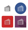 dotted icon cake in four variants with short vector image vector image