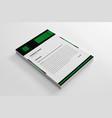 elegant corporate green letterhead template vector image vector image