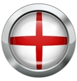 England flag metal button vector image vector image