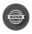 exclusive grunge rubber stamp with long shadow vector image vector image