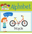 Flashcard letter B is for bicycle vector image vector image