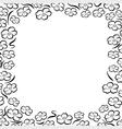 frame flower line vector image