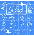 Fun of back to school sketch vector image