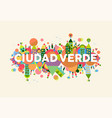 green city spanish language concept vector image