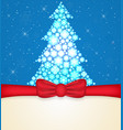 greeting cards with red bows and christmas tree vector image