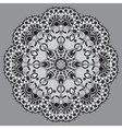 grey circular decorative geometric pattern for vector image