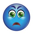 Grumpy emoticon vector image
