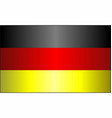 grunge flag of germany vector image vector image