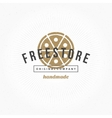 Hand drawn Pizza Restaurant Logo Vintage Style for vector image