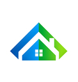 home realty abstract logo vector image