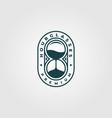 hourglass logo vintage minimalist design vector image vector image
