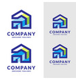 house design for decoration logo vector image vector image