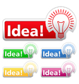 Idea Stickers vector image vector image