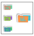 infographic on folder and blank vector image vector image