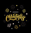 merry christmas greeting card gold glitter vector image vector image