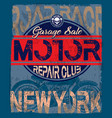 motorcycle vintage logo emblem t shirt design vector image vector image