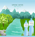 mountains water beauty nature spring green vector image vector image