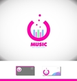 Music sound volume bar circle logo vector image vector image