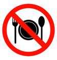 no eating vector image vector image