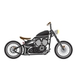 Old vintage black bobber bike cafe racer theme vector image vector image