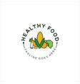 organic food logo healthy food logo vector image vector image