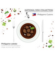 philippine cuisine asian national dish collection vector image vector image