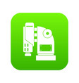 pneumatic hammer machine icon digital green vector image vector image