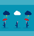 protection business team with umbrella in storm vector image vector image