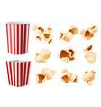 realistic popcorn food packaging corn flakes vector image vector image