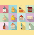 riga icons set flat style vector image vector image