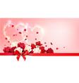 roses and ribbon vector image vector image