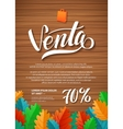 SALE Spanish Hand lettering Design Template vector image vector image