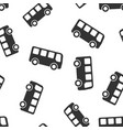 school bus icon seamless pattern background vector image vector image