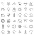 season icons set outline style vector image vector image