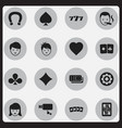 set of 16 editable game icons includes symbols vector image