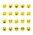 set of emojis on isolated white background vector image