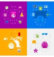 Set of summer tourism icons vector image vector image