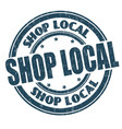 shop local sign or stamp vector image vector image