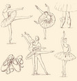 sketches of ballet dancers vector image vector image