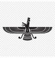 symbol zoroastrianism isolated vector image