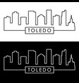 toledo skyline linear style editable file vector image vector image