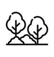 tree in garden icon vector image