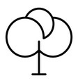 tree thin line icon 48x48 simple minimal pictog vector image vector image